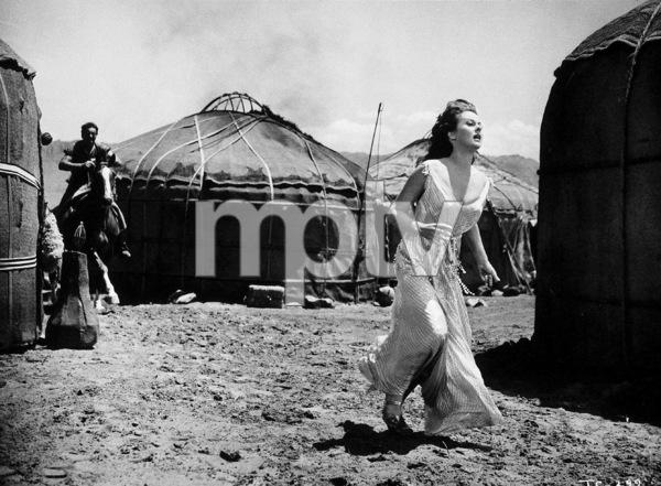 """""""The Conqueror,"""" Howard Hughes/RKO 1955.John Wayne and Susan Hayward.Photo by Alexander Kahle. - Image 5761_0076"""