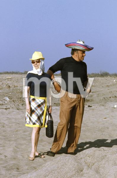 """""""Satyricon""""Federico Fellini and wife Giulietta Masina on set1969** I.V.C. - Image 5833_0058"""