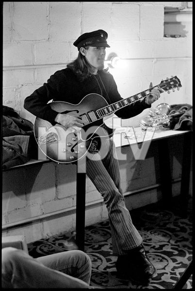 """Jim """"Motorhead"""" Sherwood of The Mothers of Invention prior to a performance in Fall River, Massachusetts 18 February 1968© 2020 Ed Lefkowicz - Image 5872_0061"""