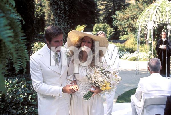 Farrah Fawcett with husband Lee Majors on their wedding dayJuly 28, 1973 © 1978 Bruce McBroom - Image 5928_0026