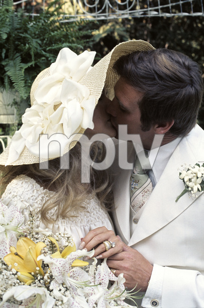 Farrah Fawcett with husband Lee Majors on their wedding day July 28, 1973 © 1978 Bruce McBroom - Image 5928_0038