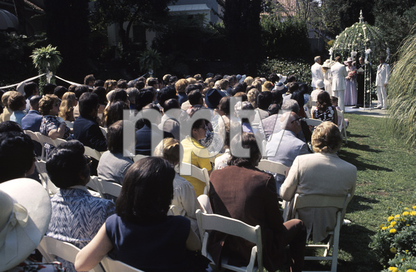 Farrah Fawcett with husband Lee Majors on their wedding day July 28, 1973 © 1978 Bruce McBroom - Image 5928_0234