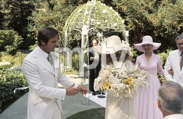 Farrah Fawcett with husband Lee Majors on their wedding day July 28, 1973 © 1978 Bruce McBroom - Image 5928_0235
