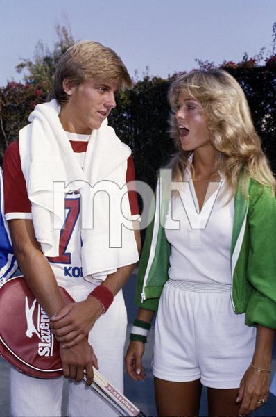 Farrah Fawcett and Vincent Van Pattencirca 1970s© 1978 Gary Lewis - Image 5928_0260