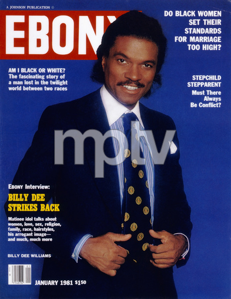 """Billy Dee Williams on the magazine cover of """"Ebony"""" (January 1981 issue) © 1981 Bobby Holland - Image 5936_0038"""