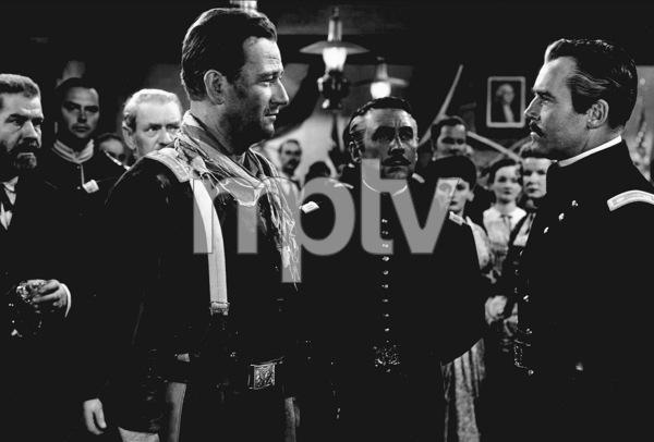 """Fort Apache""John Wayne and Henry Fonda. © 1948 RKOPhoto by Al St. Hilaire. - Image 6005_0036"