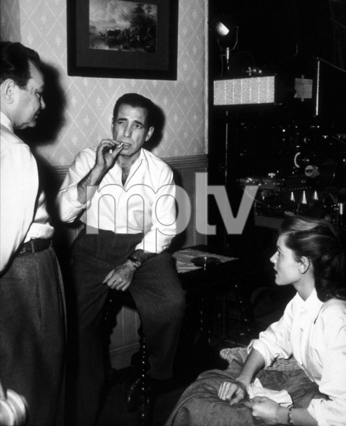 """Key Largo""Edward G. Robinson, Humphrey Bogart, and Lauren Bacall1948 Warner Bros.Photo by Mac JulianMPTV - Image 6037_0005"