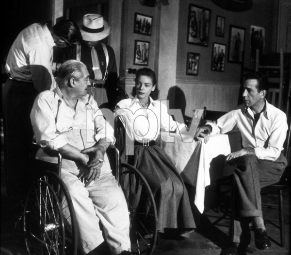 """Key Largo""Lionel Barrymore, Lauren Bacall, and Humphrey Bogart 1948 Warner Bros.Photo by Mac JulianMPTV - Image 6037_0011"