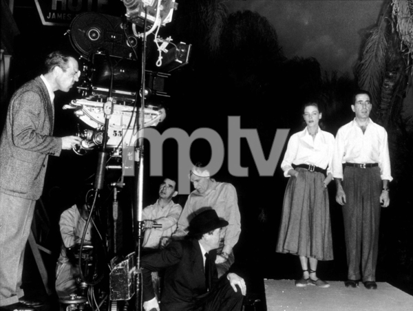 """Key Largo""Director, John Houston, Lauren Bacall, and Humphrey Bogart 1948 Warner Bros.Photo by Mac JulianMPTV - Image 6037_0027"