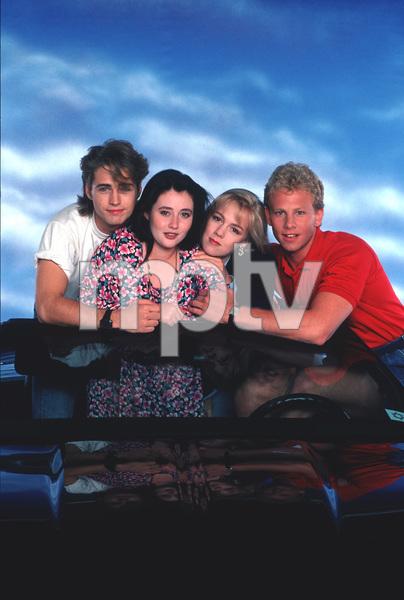 """Beverly Hills 90210""Jason Priestley,Shannen Doherty,Jennie Garth,                   Ian Ziering1990 © 1990 Mario Casilli - Image 6064_0131"