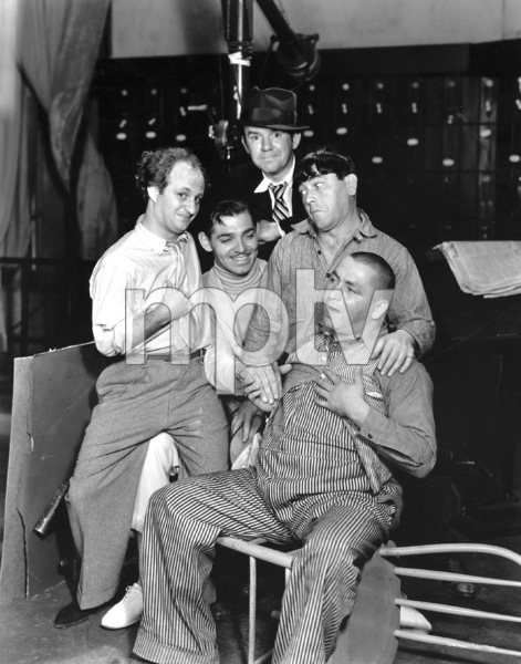 """""""The Dancing Lady""""Clark Gable, Ted Healy, and the Three StoogesMGM, 1933**I.V. - Image 6094_0018"""