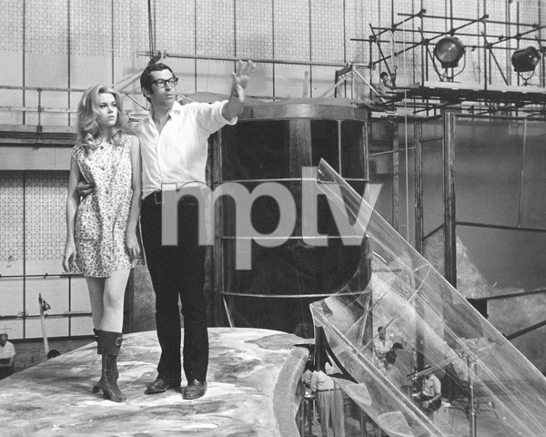 """Barbarella""Jane Fonda and director/husband Roger Vadim1968 Paramount**I.V. - Image 6232_0163"