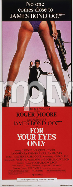 """""""For Your Eyes Only,""""Poster1981 MGM / MPTV - Image 6419_0103"""