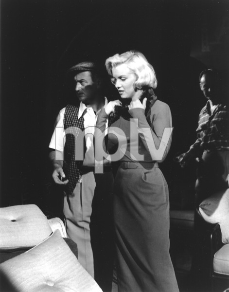"""""""How To Marry A Millionaire""""Marilyn Monroe with Dir. Jean Negulesco1953 / 20th Century Fox**R.C. - Image 6497_0020"""