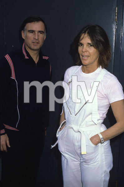 Ali MacGraw and Jerry Brown during the 2nd Annual Benefit Concert for Malibu Emergency Room at Firestone Fieldhouse at Pepperdine University in Malibu, California1984 © 1984 Gary Lewis - Image 6628_0204