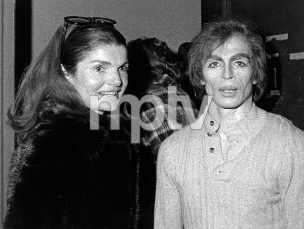 """Rudolf Nureyev being visited by Jacqueline Kennedy Onassis backstage after his performance in """"Don Quixote"""" with the Australian Ballet1971 - Image 6629_0007"""