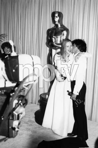 "Meryl Streep and Dustin Hoffman backstage at ""The 52nd Annual Academy Awards"" at the Dorothy Chandler Pavilion April 14, 1980** B.D.M. - Image 6696_0026"