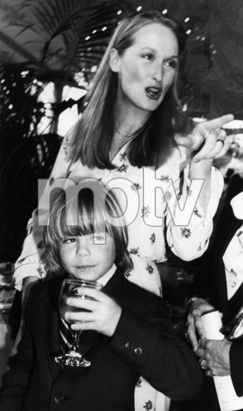 Justin Henry and Meryl Streep at a party thrown at Tavern on the Green for New York-based Academy Award nominees April 8, 1980** B.D.M. - Image 6696_0030
