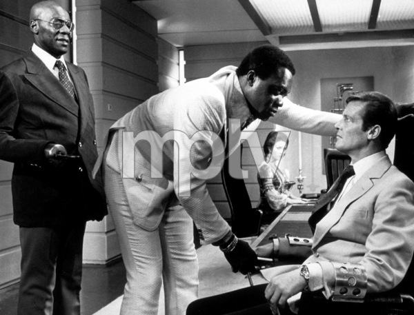 """Live and Let Die,""Julius  W. Harris, Yaphet Kotto, Roger Moore1973 MGM / MPTV - Image 6773_0006"