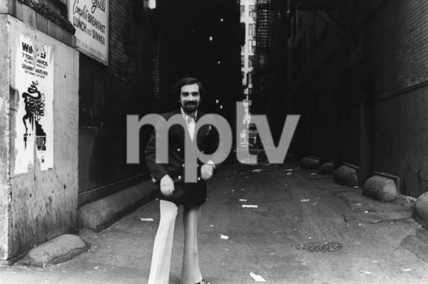 Martin Scorsese in front of the Shubert Theatre in Chicago1977 © 1978 Bruce McBroom - Image 7001_0007