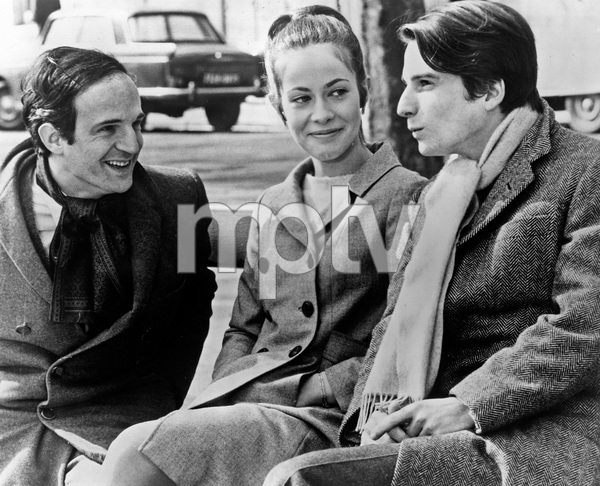 Francois Truffaut on location with Claude Jade and Jean-Pierre Leaud1968 - Image 7002_0001