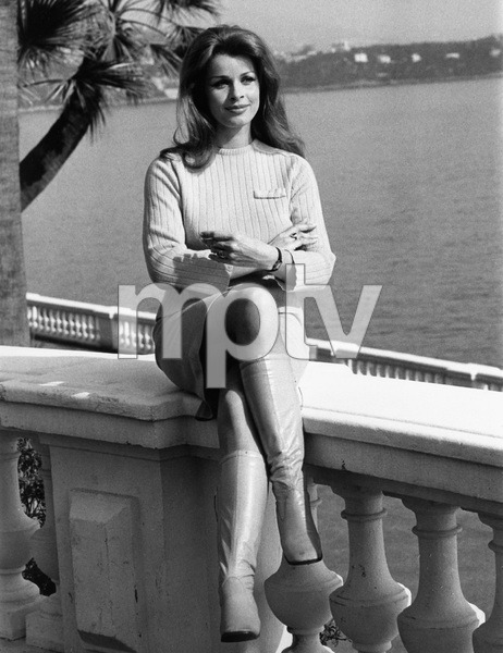 Senta Berger relaxing in Monte Carlo, Monaco1968 - Image 7028_0008