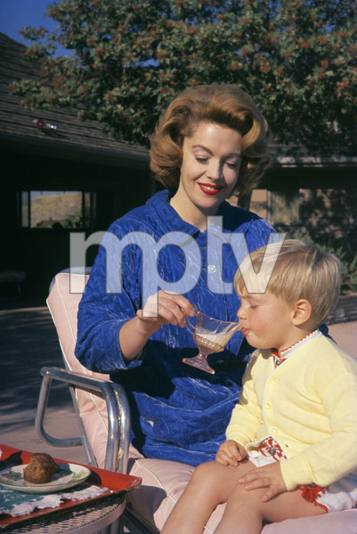 Jayne Meadows at home with her son1958© 1978 Gerald Smith - Image 7325_0064