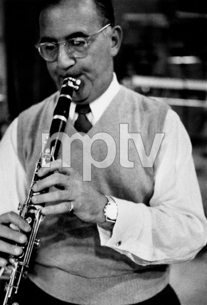 "Benny Goodman at ""The Benny Goodman Story"" recording session, Universal 1955. © 1978 Bob Willoughby / MPTV - Image 7427_202"