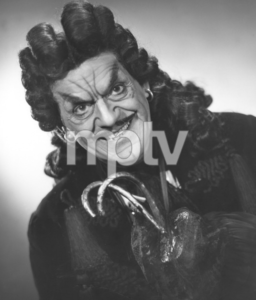 "Boris Karloff as Captain Hook in ""Peter Pan""-STAGE;photo by Bender, 1950, I.V. - Image 7554_0126"