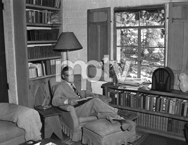 Boris Karloff at home, Late 30