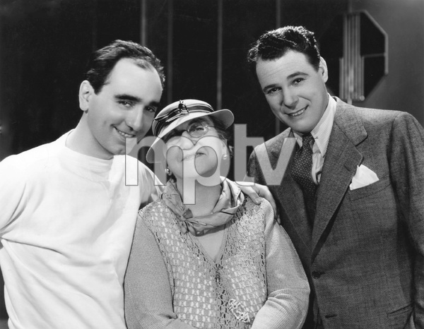 Busby Berkeley, his mother and Everett Marshall star of Berkeley