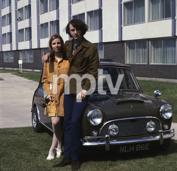 """The Monkees""Michael Nesmith and his 1275 Mini-Cooper Scirca 1965© 1978 Gene Trindl - Image 7671_0232"