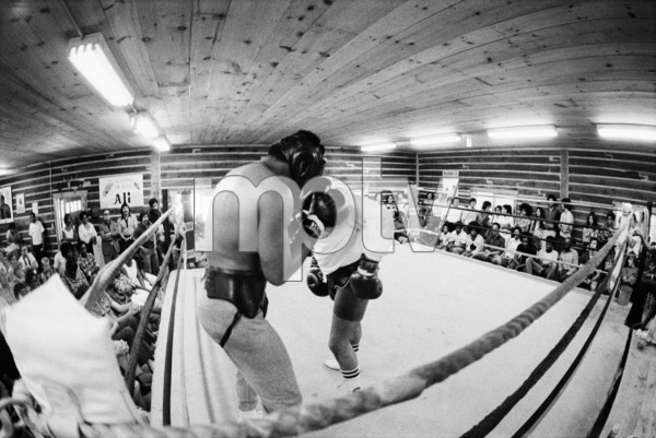 "Muhammad Ali sparring with Eddie ""Bossman"" Jones1974© 1978 Peter Angelo Simon - Image 7683_0557"