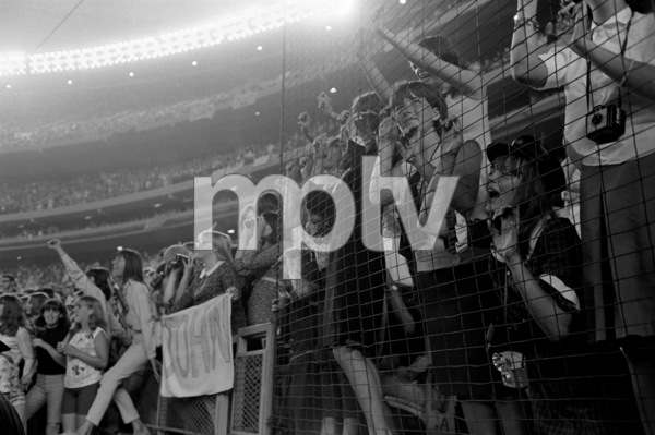 Beatles fans at Shea StadiumAugust 15, 1965 © 1978 George E. Joseph - Image 7685_0173