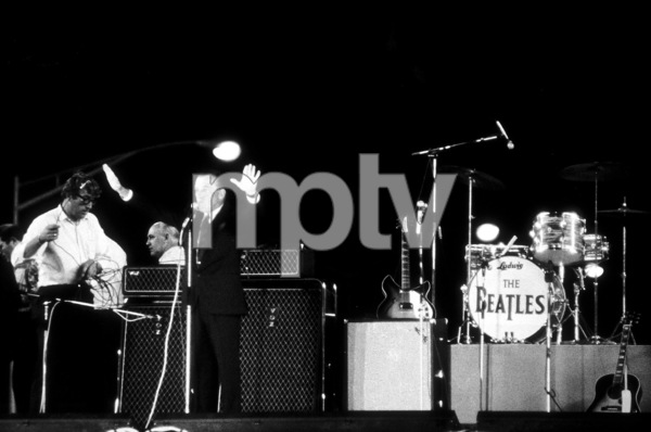 Beatles introduced by Ed Sullivanat Shea Stadium, August 15, 1965 © 1978 George E. Joseph / MPTV - Image 7685_0184