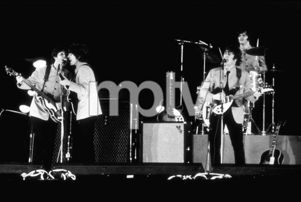 Beatles performing at Shea Stadium,August 15, 1965 © 1978 George E. Joseph / MPTV - Image 7685_0187