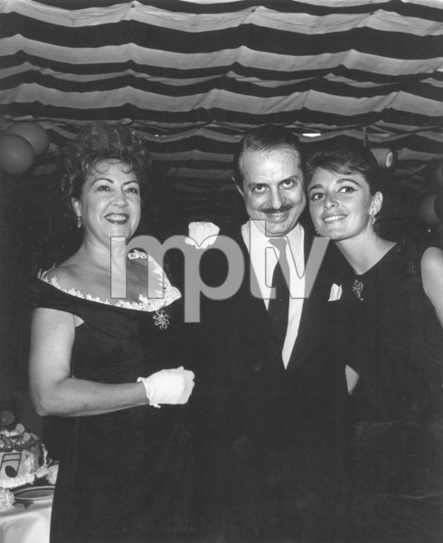 "Ethel Merman with David Merrick andAnna Marie Alberghetti for ""Carnival"" opening, c. 1960.  Photo by Joe Shere - Image 7802_0004"