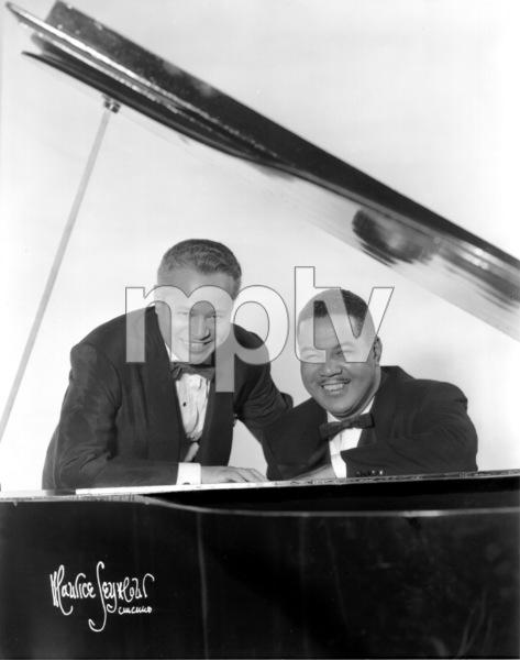 Billy Daniels with Joe Louis2/29/52 © 1978 Maurice Seymour - Image 7907_0003