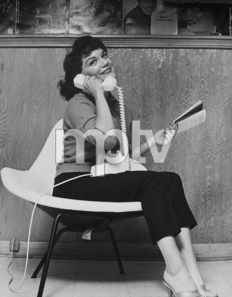 Posed portrait taken of singer Connie Francis taken at her home in New Jerseycirca 1960 © 2005 Michael Levin - Image 7908_0011