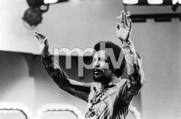 Quincy Jones preparing for an appearance on a Merv Griffin television specialcirca 1970 - Image 7920_0021
