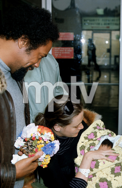 Quincy Jones with Peggy Lipton and Baby Kidada, c. 1974 © 1978 Chester Maydole - Image 7928_0023