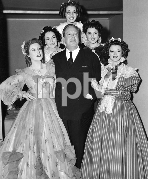 Cast with  Robert Z. Leonard,  PRIDE AND PREJUDICE, M-G-M, 1940, I.V. - Image 8037_0030
