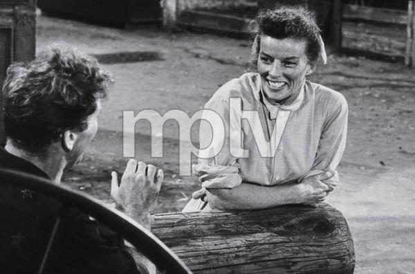 """""""The Rainmaker""""Katharine Hepburn and Burt Lancaster 1956 Paramount © 1978 Bill Avery - Image 8293_0008"""
