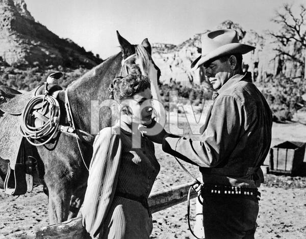 """3:10 to Yuma""Felicia Farr, Glenn Ford1957 Columbia Pictures - Image 8396_0003"