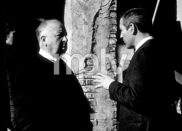 """""""Torn Curtain,""""Director Alfred Hitchcock with Paul Newman.1966 Universal.  - Image 8418_0015"""