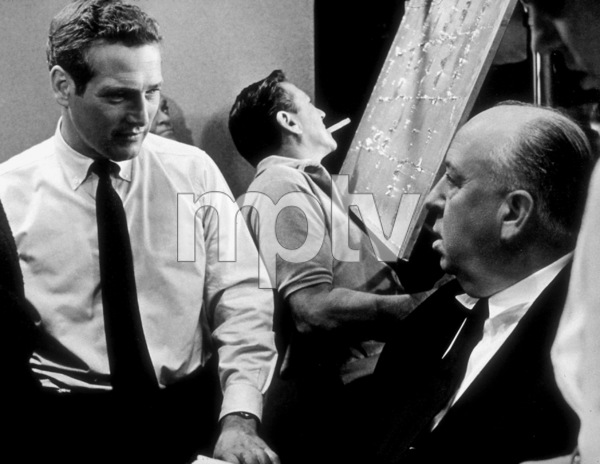 """""""Torn Curtain,""""Paul Newman & Director Alfred Hitchcock, on the set.1966 Universal - Image 8418_0019"""