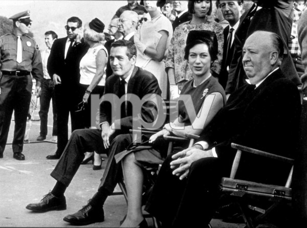 """Torn Curtain,""Paul Newman, Princess Margaret,& Alfred Hitchcock, on the set.1966 Universal - Image 8418_0023"