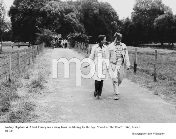 """""""Two For The Road""""Audrey Hepburn, Albert Finney1966 / 20th Century Fox © 1978 Bob Willoughby - Image 8451_0104"""