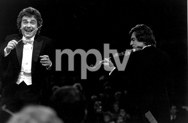 """""""Unfaithfully Yours"""" Dudley Moore, Armand Assante © 1983 20th Cent. FoxPhoto by Larry Barbier - Image 8465_0002"""