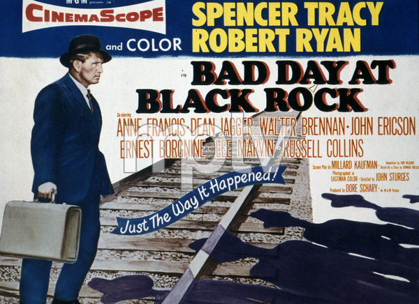 """Bad Day at Black Rock"" (Lobby Card)Spencer Tracy1955 MGM - Image 8622_0002"